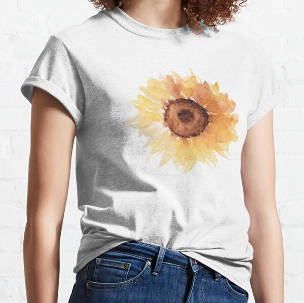 Watercolor sunfllowers Classic T-Shirt
