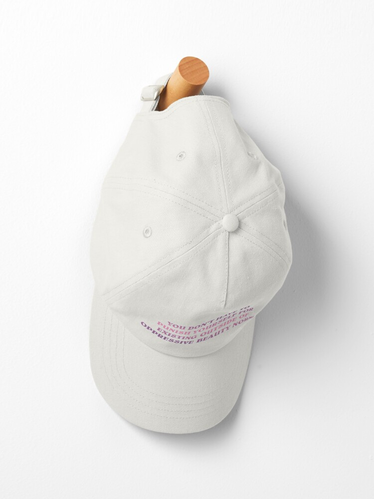 Alternate view of no oppressive beauty norms Cap