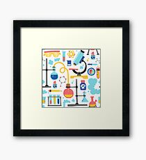 Chemistry laboratory equipment  Framed Print