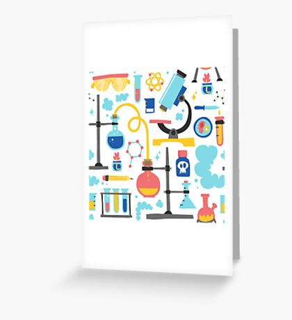 Chemistry laboratory equipment  Greeting Card