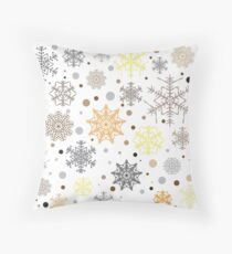 Lustiges buntes Wintermuster Throw Pillow