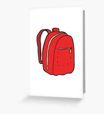 cartoon rucksack Greeting Card