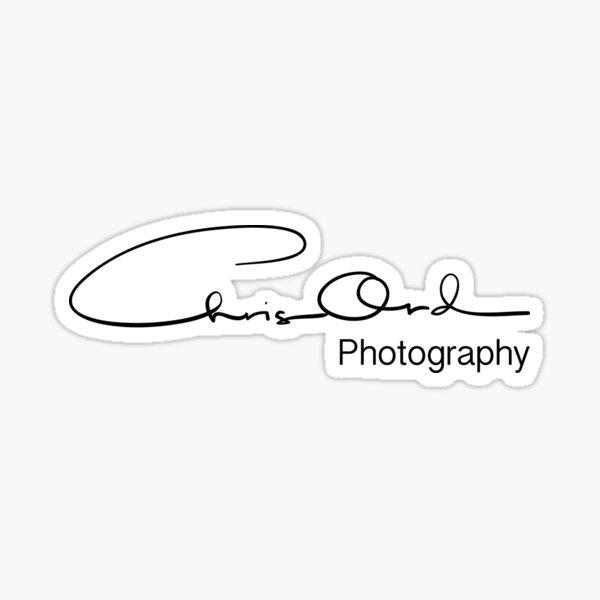Chris Ord Photography Black Sticker
