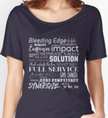 Corporate Buzzwords Business Jargon Typography Art Relaxed Fit T-Shirt