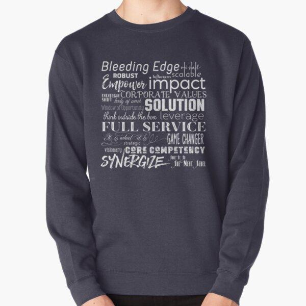 Corporate Buzzwords Business Jargon Typography Art Pullover Sweatshirt