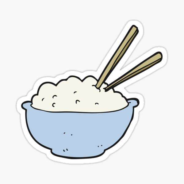 cartoon bowl of rice Sticker