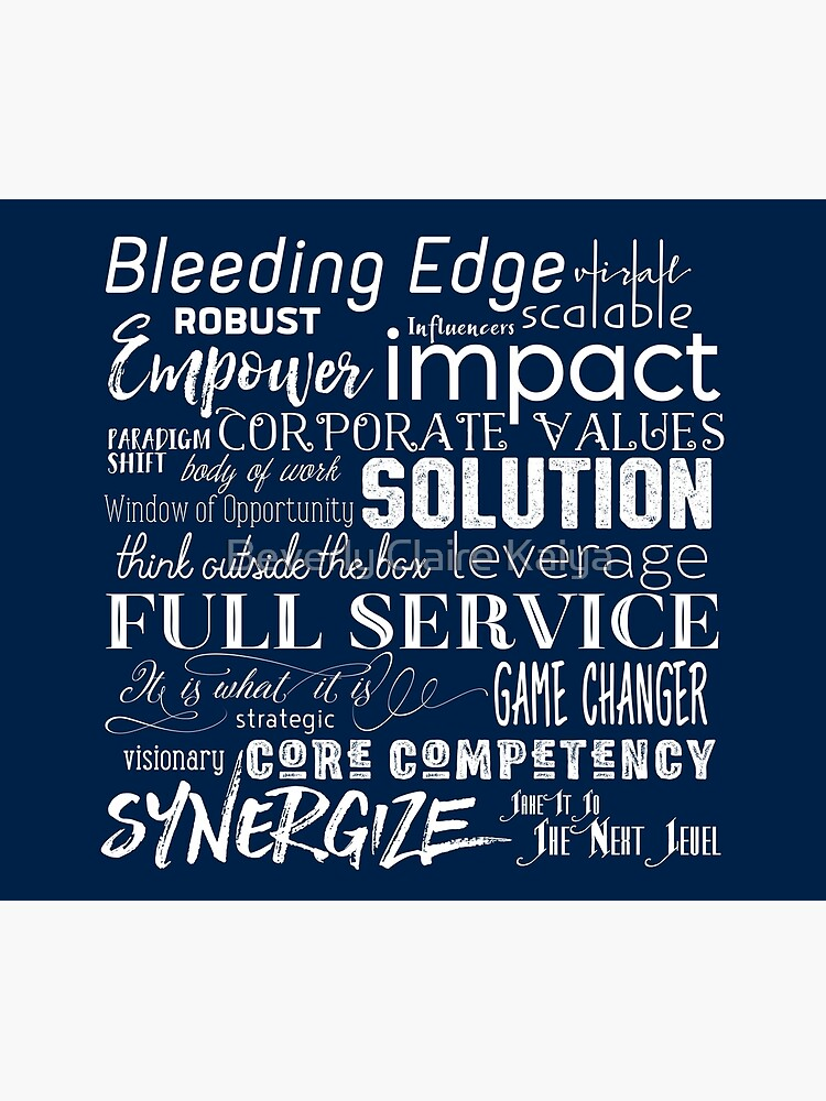 Corporate Buzzwords Business Jargon Typography Art by beverlyclaire