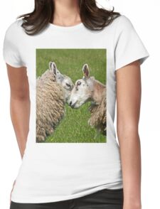 Sheep Fight! Womens Fitted T-Shirt