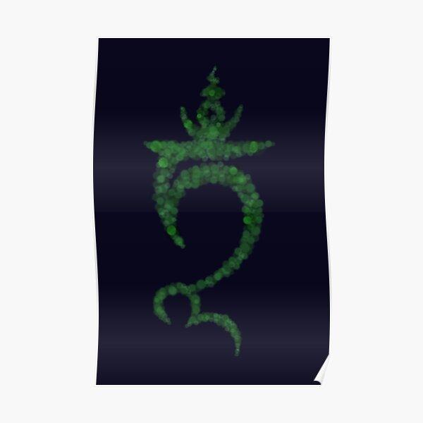 Green Tara Seed Syllable (TAM) Poster