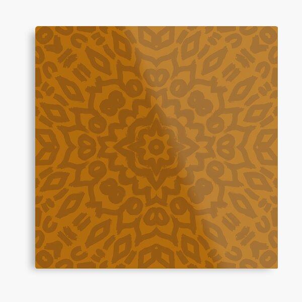 Clay Mandala Metal Print