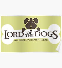 Dogs Furrlowship of the Ring  Poster
