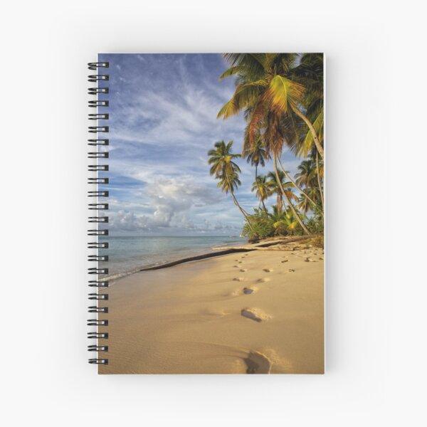 Man Friday Footprints Spiral Notebook