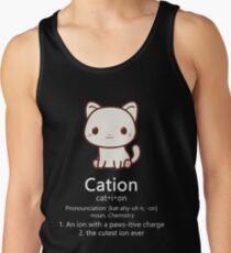 Cute Science Cat T-Shirt Kawaii Cation Chemistry Pawsitive Men's Tank Top