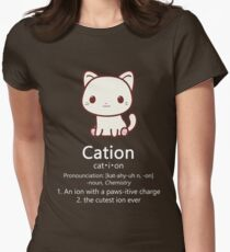 Cute Science Cat T-Shirt Kawaii Cation Chemistry Pawsitive T-Shirt