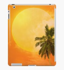 Silhouettes of palm trees on the artistic background iPad Case/Skin