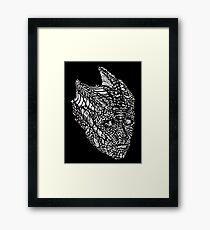 Madame Vastra (whiteline) Framed Print