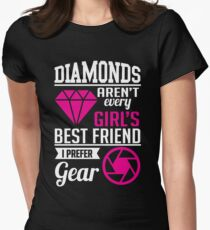 Photography: Diamonds? I prefer gear! Women's Fitted T-Shirt