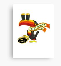Guinness Irish Rugby Toucan Canvas Print