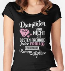 Fotografie: Diamanten? Ich bevorzuge Kamera und Objektiv Women's Fitted Scoop T-Shirt