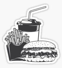 Burger combo Sticker