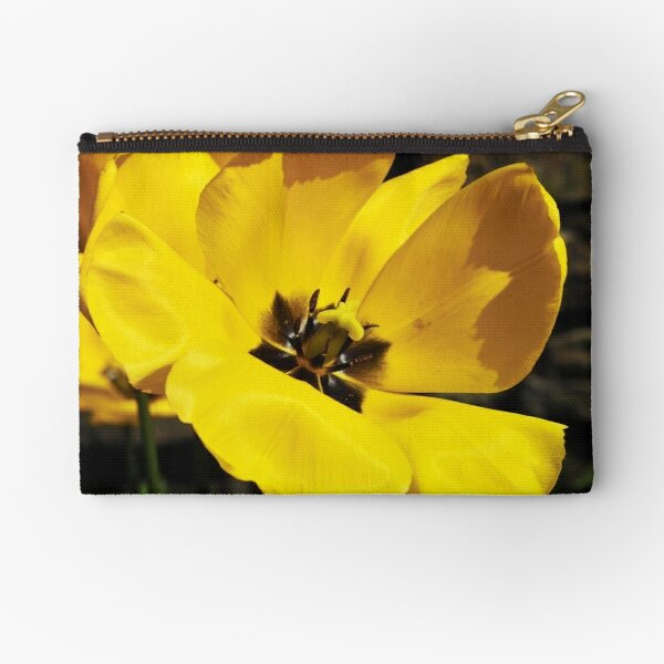 Spring in Yellow Zipper Pouch