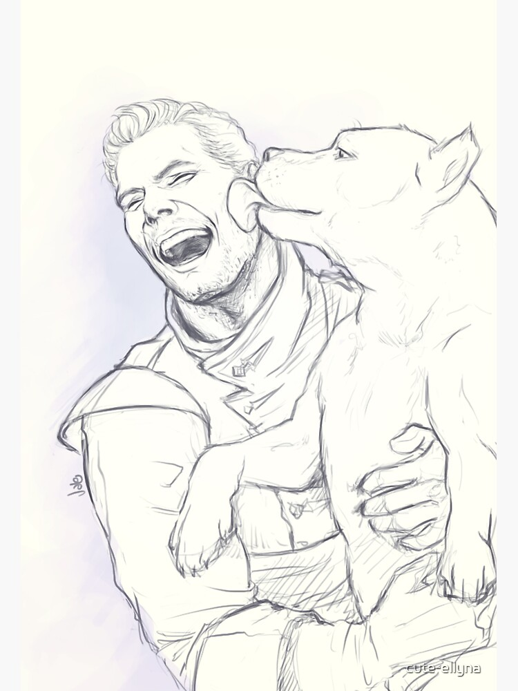 Cullen: Happiness and a mabari by cute-ellyna