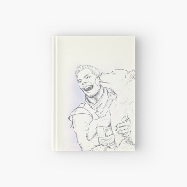 Cullen: Happiness and a mabari Hardcover Journal