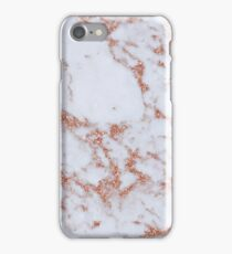 Intense rose gold marble iPhone Case/Skin