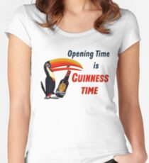 Guinness Time Vintage Logo Women's Fitted Scoop T-Shirt