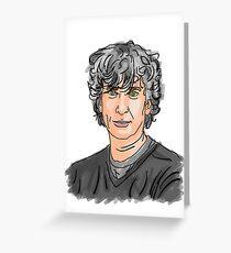 Neil Gaiman Greeting Card