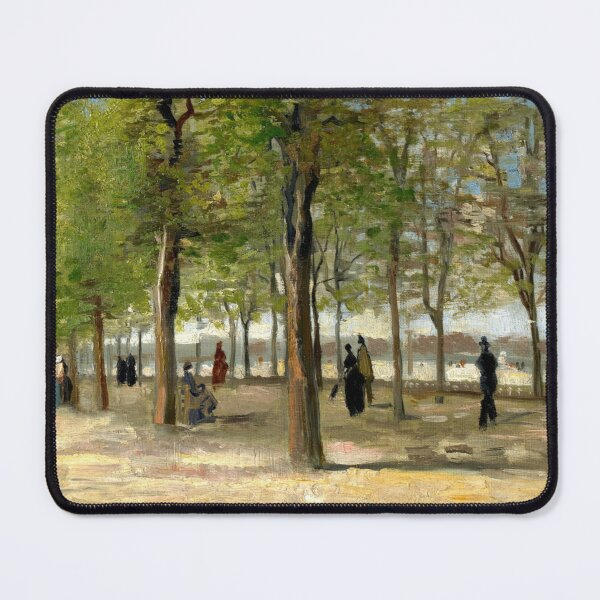 Terrace in the Luxembourg Gardens - Vincent Van Gogh Mouse Pad