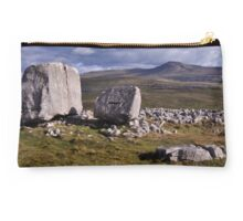 Ingleborough and limestone boulders Studio Pouch