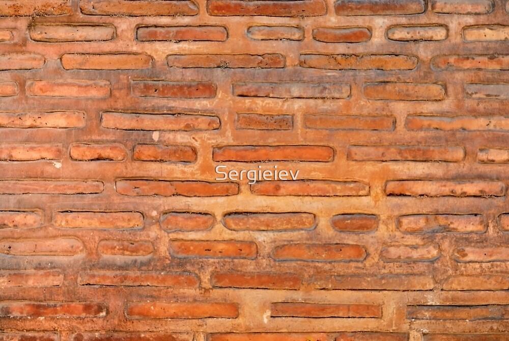 ansient bricking wall  by Sergieiev