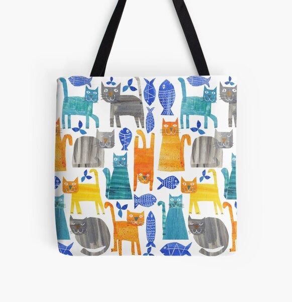 Crazy cats All Over Print Tote Bag