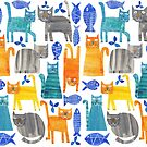 Crazy cats by TRACEYENGLISH