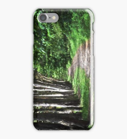 Park Walk Painting iPhone Case/Skin