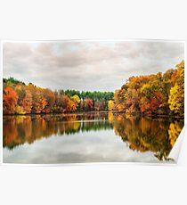 Beautiful Octorara Lake in Autumn Poster