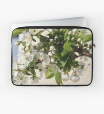 White Sea of Blossoms Laptop Sleeve