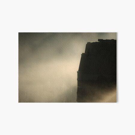 Narrowboat Mist Art Board Print