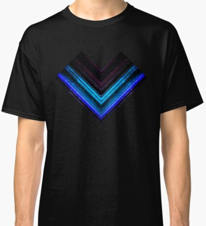 Sparkly metallic blue and purple galaxy lines Classic T-Shirt
