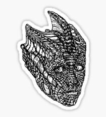 Madame Vastra (blackline) Sticker