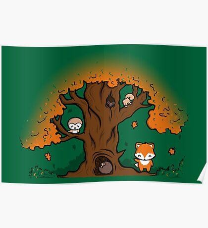 Autumn Friends Poster