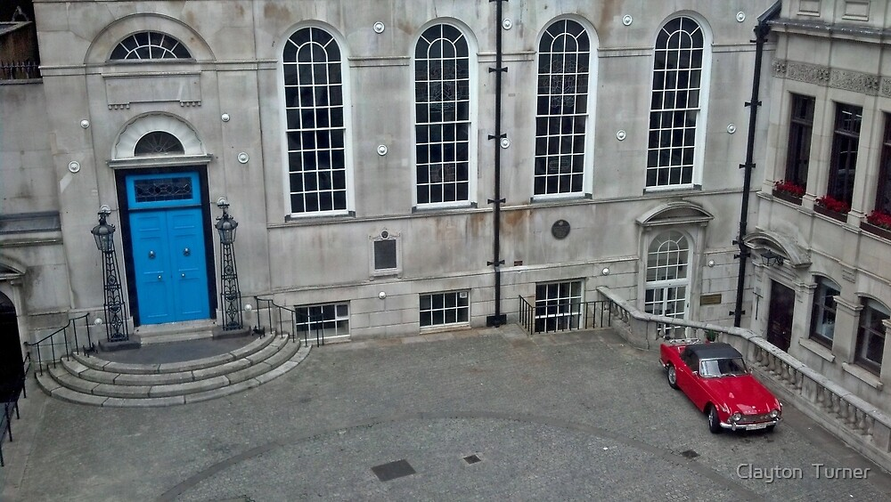 Red Car Blue Door by Clayton  Turner