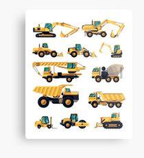 Construction machiner Metal Print