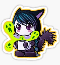 Zoe drinking Punch Sticker Sticker