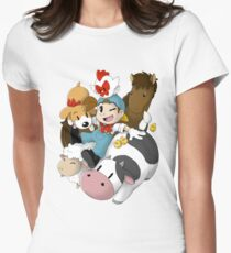 Harvest Moon (Back To Nature) Womens Fitted T-Shirt