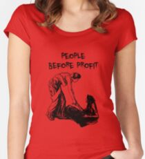 People Before Profit Women's Fitted Scoop T-Shirt