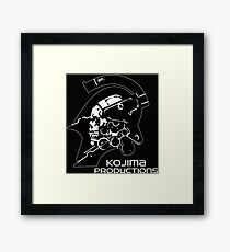 KOJIMA PRODUCTIONS New Kojipro Logo Hideo Kojima Framed Print