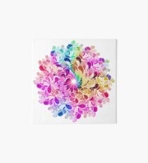 Rainbow Watercolor Paisley Flower Art Board
