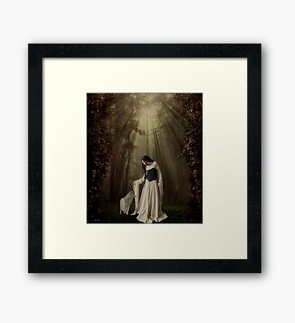 Out of the Shadows... Framed Print
